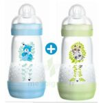 MAM BIBERON EASY START anti-colique 260 ml lot de 2_ BLEU & VERT à Bordeaux