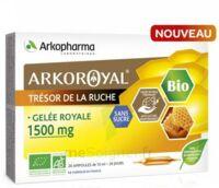 Arkoroyal Gelée Royale Bio Sans Sucre 1500mg Solution Buvable 20 Ampoules/10ml à Bordeaux