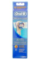 BROSSETTE DE RECHANGE ORAL-B PRECISION CLEAN x 3 à Bordeaux