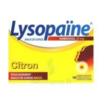 LYSOPAÏNE MAUX DE GORGE AMBROXOL CITRON 20 mg SANS SUCRE, pastille édulcorée au sorbitol et au sucralose à Bordeaux