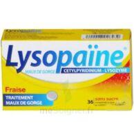 LYSOPAÏNE MAUX DE GORGE CETYLPYRIDINIUM LYSOZYME FRAISE SANS SUCRE, comprimé à sucer édulcoré au sorbitol et à la saccharine à Bordeaux