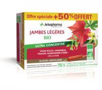 Acheter Arkofluide Bio Ultraextract Solution buvable jambes légères 30 Ampoules/10ml à Bordeaux